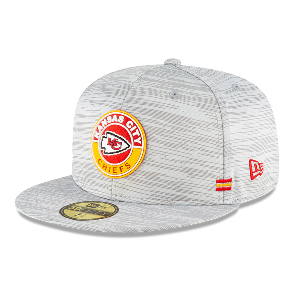 Casquette 59FIFTY Sideline des Chiefs de Kansas City, grise
