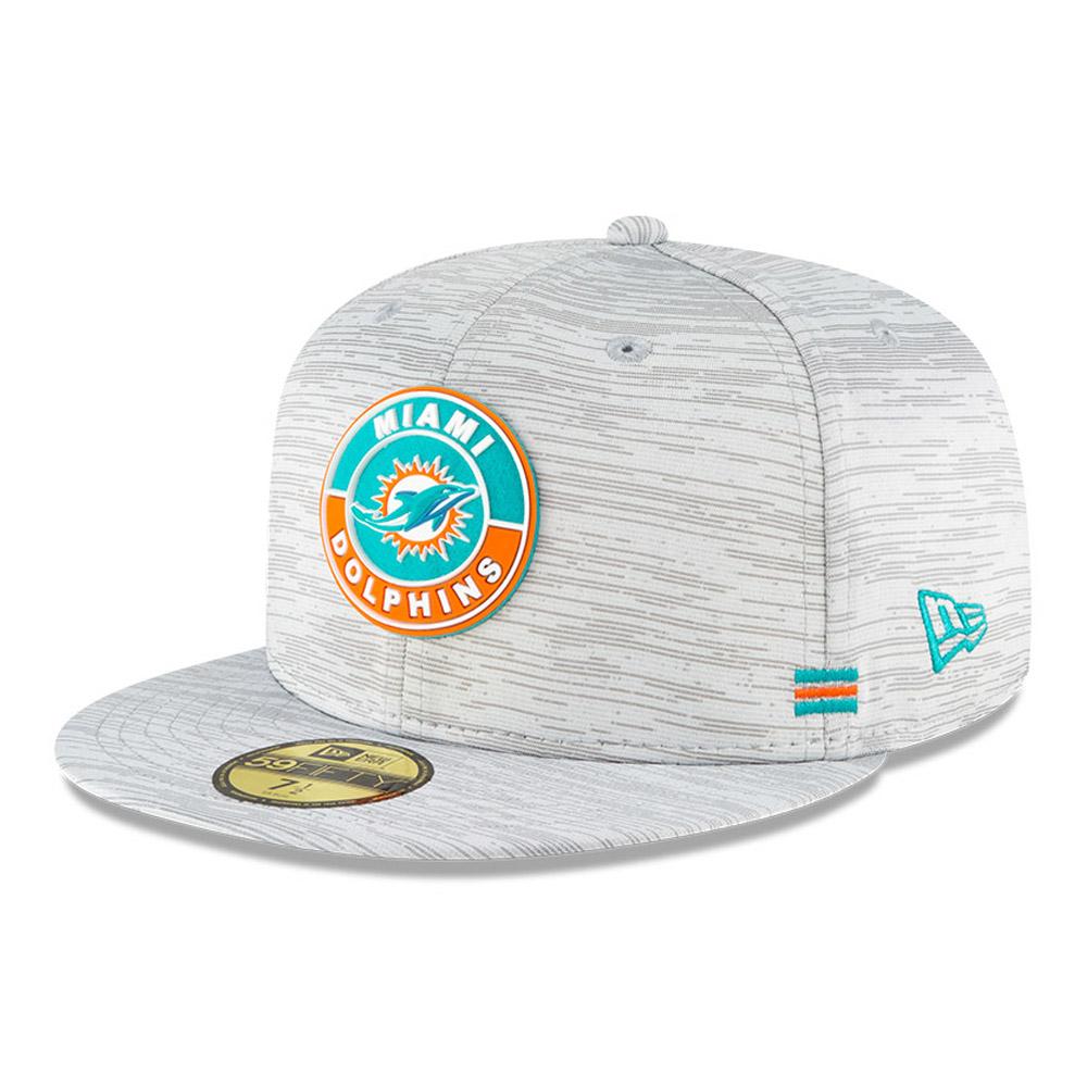 Cappellino Miami Dolphins Sideline 59FIFTY grigio