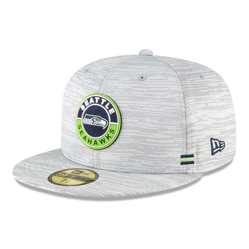 Cappellino Seattle Seahawks Sideline 59FIFTY grigio
